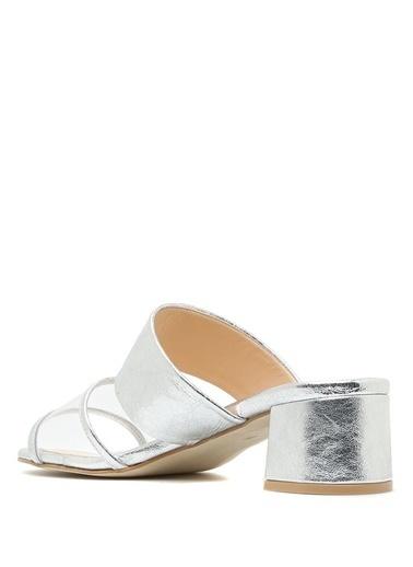 Belle Epoque Kalın Topuklu Sandalet Gümüş